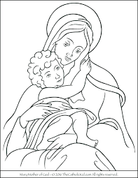 Free Catholic Coloring Pages For Lent Mother Of God Page Adults