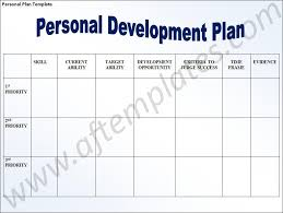 personal development plans sample personal development action plan template