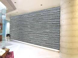 space looks warmer with an accent wall of stone cladding
