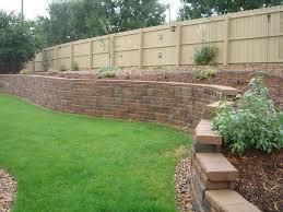 cinder block garden wall. Wall:Beautiful Concrete Block Retaining Wall Cinder Garden D