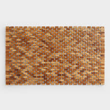 Teak Wood Bath Mat | World Market