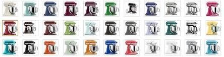 kitchenaid mixer color chart. kitchenaid-artisan-mixer-colors kitchenaid mixer color chart o