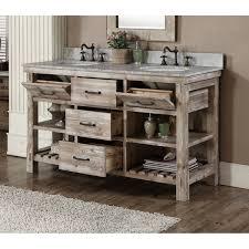 rustic double sink vanity. Accos 60 Inch Rustic Double Sink Bathroom Vanity Marble Top Intended