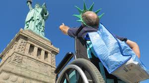 physical mobility pedestal statue of liberty national monument u s national park service