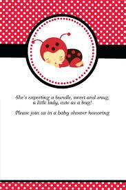 Ladybug Invitations Template Free Ladybug Invitation Template Jonandtracy Co
