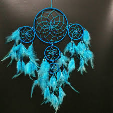 Native American Beaded Dream Catchers Mesmerizing 32 Free Shipping Blue Indian Dream Catcher With 32 Circles Babies