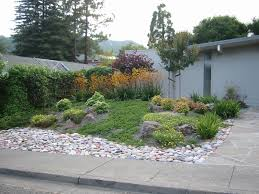 Landscape Ideas For Front Yard Low Maintenance Home Decorating Within Rock  Ideas