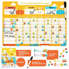 Details About Chore Chart For Kids Magnetic Reward Calendar Board Dry Erase Schedule