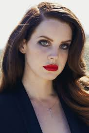 lana del rey celebrities wearing red lipstick