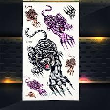 Male Tigre Bestia Tatuaggio Temporaneo Adesivi Per Bambini Regali