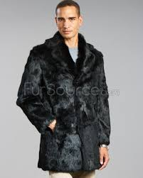 mens fur coats horizon black 0027s genuine rabbit fur coat puthnsw