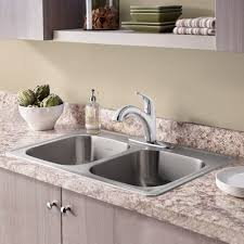 Colony Top Mount Ada 33x22 Double Bowl Stainless Steel 3 Hole