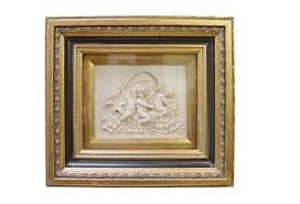 casa padrino baroque wall decor picture frame with antique style portrait gold white
