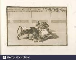 Caida de un picador de su caballo debajo del toro (a picador falls under  the bull). Avery, Samuel Putnam, 1822-1904 (Collector) Goya, Francisco  Stock Photo - Alamy
