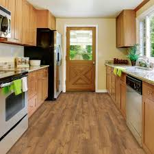 Kitchen Flooring Home Depot Trafficmaster Take Home Sample Barnwood Resilient Vinyl Plank