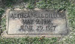 Althea Nell Dillon (1916-1916) - Find A Grave Memorial