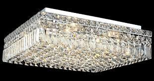 elegant lighting 2032f20cec crystal maxime square flush mount with flush mount crystal ceiling light