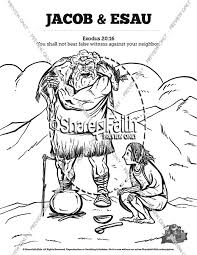 Story Of Jacob And Esau Bible Coloring Pages Sunday School