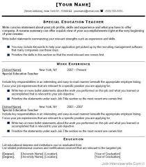 Sample Special Education Teacher Resume 14 Thumb