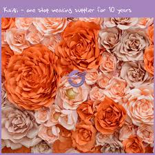 Paper Flower Background Colorful Paper Flower Backdrop Diy 59 Kaiqi Wedding