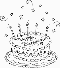 Free Printable Birthday Cake Coloring Pages For Kids For Party