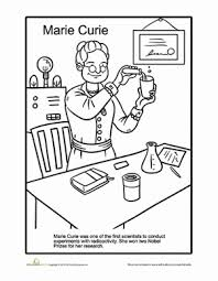 Small Picture Marie Curie Coloring Page Marie curie Worksheets and History