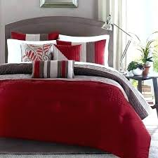 red and gray bedding black comforter