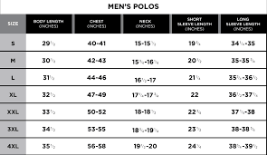 Dress Size Chart Mens Size Chart Greg Norman Collection
