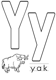 Small Picture Letter Y coloring pages to download and print for free