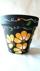painting clay flower pots clay pot ideas painted flower pot ideas angels hand painted pottery spray painting clay flower pots