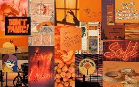 Orange Aesthetic Tumblr Laptop ...