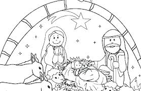 Nativity Coloring Pages Free Free Nativity Coloring Pages Free