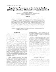 Pdf Population Parameters Of The Iceland Scallop Chlamys
