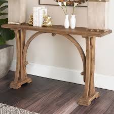 Console Table Lights Rustic Arched Frame Console Table Shades Of Light