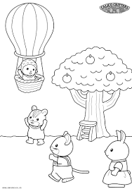 Calico Critters Coloring Page Coloring Home
