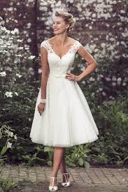 brighton belle lottie 50s tea length lace short vintage wedding dress