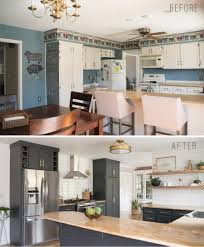 Open Shelving Kitchen Kitchen Reveal With Dark Cabinets And Open Shelving Bigger Than