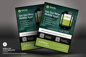 Design Flyer App Mobile App Flyer Psd Template