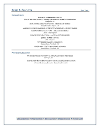 sample resume sample entry level culinary resume culinary arts - Sample  Culinary Resume