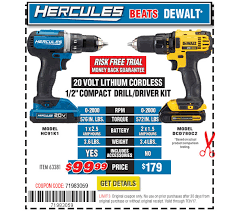 Dewalt Battery Comparison Chart Harbor Freight Hercules 20v Cordless Tools