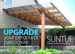 suntuf polycarbonate pergola designs covered roof image upgrade your pergola or patio cover with suntuf polycarbonate roof panels installation