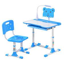 Bàn học thông minh chống gù chống cận A6, bàn học sinh giá rẻ tăng chỉnh  chiều cao, tặng đèn led cảm ứng 3 chế độ có kèm ghế - Bàn học