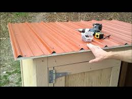 how to install corrugated metal roofing on a shed