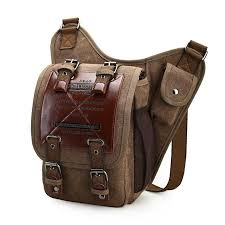 men s shoulder bag canvas messenger bag canvas man leather man s over his shoulder
