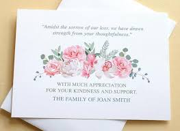 Thank You Sympathy Cards Thank You Sympathy Cards With A Pretty Bunch Of Pink And White Roses Custom Flat Cards 4 7 8 X 3 1 2
