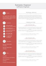 Awesome Collection Of Software Engineer Resume Template Word
