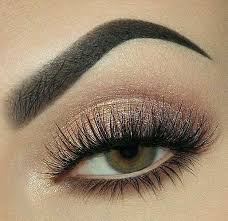 peach glittery eye makeup this color