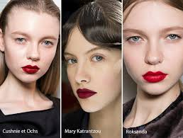 fall winter 2016 2017 makeup beauty trends red lips