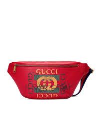 gucci gucci print leather belt bag