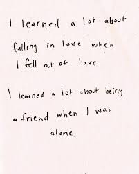 Falling Out Of Love Quotes Impressive Sad And Depressing Quotes I Learned A Lot About Falling In Love